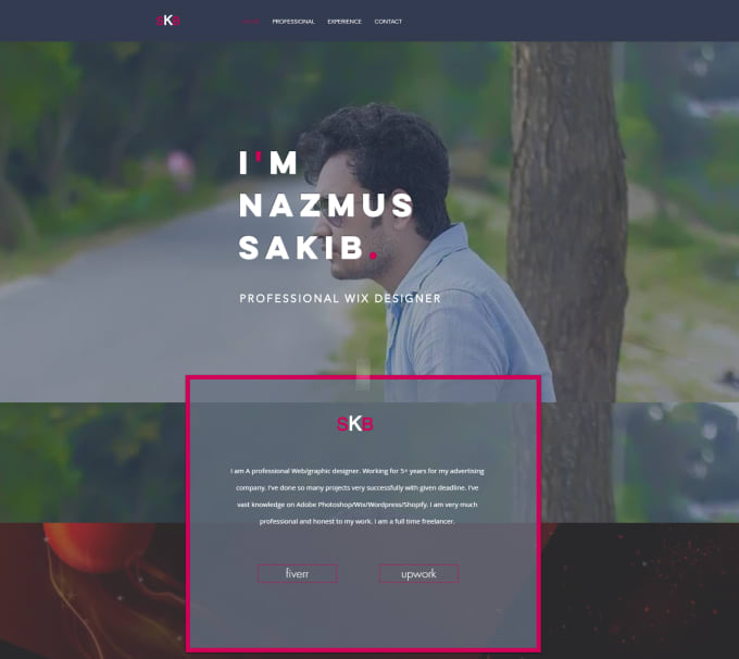 design a creative professional business website for you