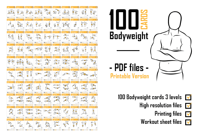photograph about Printable Workout Cards identified as mauhr87 : I will send out your self 100 pounds playing cards PDF printable document for $5 upon