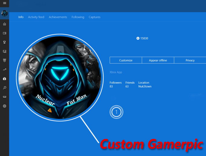 create a custom and personalized xbox gamerpic for you by mario7valencia