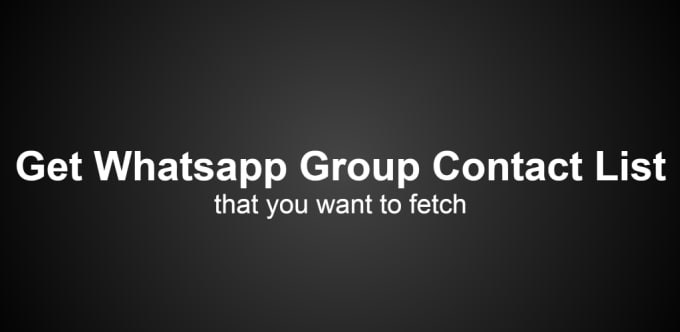 labalabi : I will provide unlimited whatsapp groups contacts for marketing  for $5 on www fiverr com