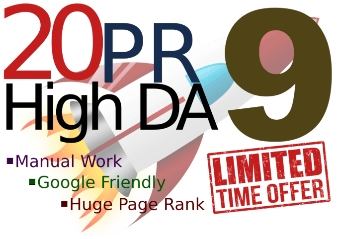 skyrocket your SEO with 20 pr9 high da google safe backlinks