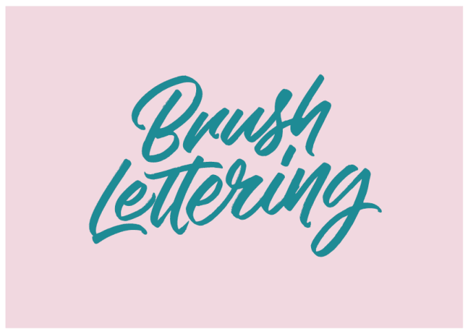 do brush lettering in my personal handwriting