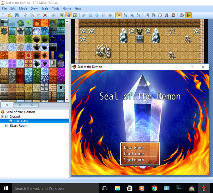 make rooms and events in rpg maker vx ace or mv