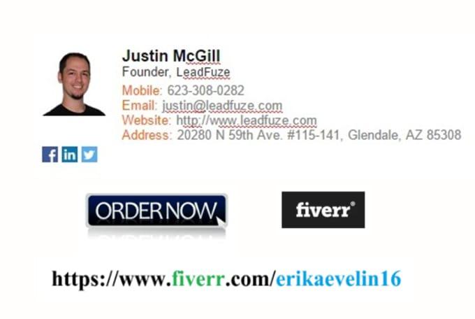design HTML email signature