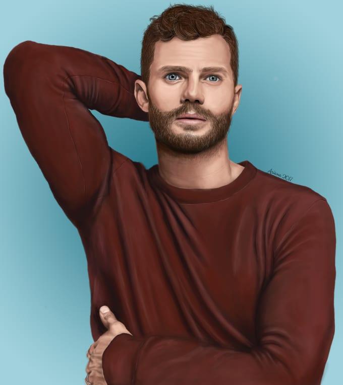 draw your realistic digital portrait