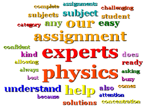 physics assignment topics Ap's high school physics 1: algebra-based course is a rigorous, college-level class that provides an opportunity to gain skills colleges recognize.