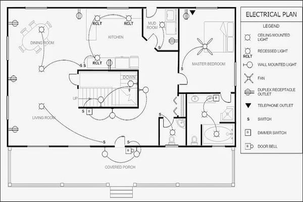 design floor plans and electrical drawings in autocad by