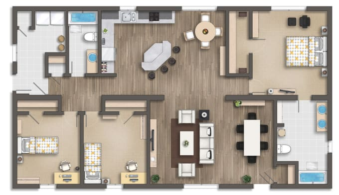 Render 2d Floor Plans On Photoshop By Marryamnadeem