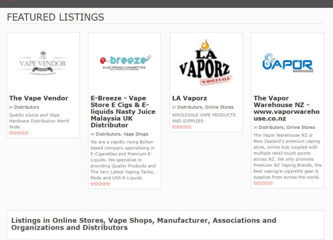 list you under a vape directory with SEO