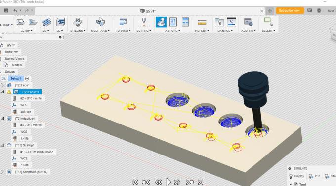 make g code or cnc program for your design