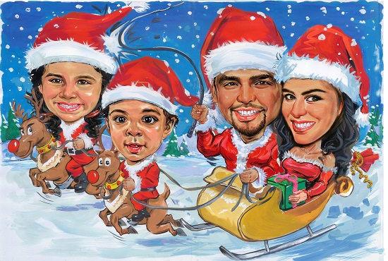 create christmas cards design,christmas cartoon caricature