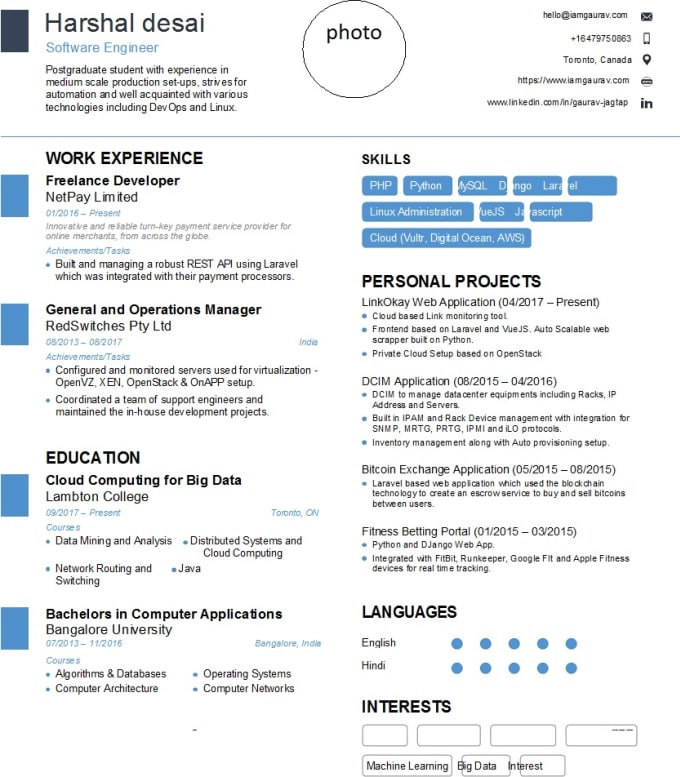 make a perfect cv for you