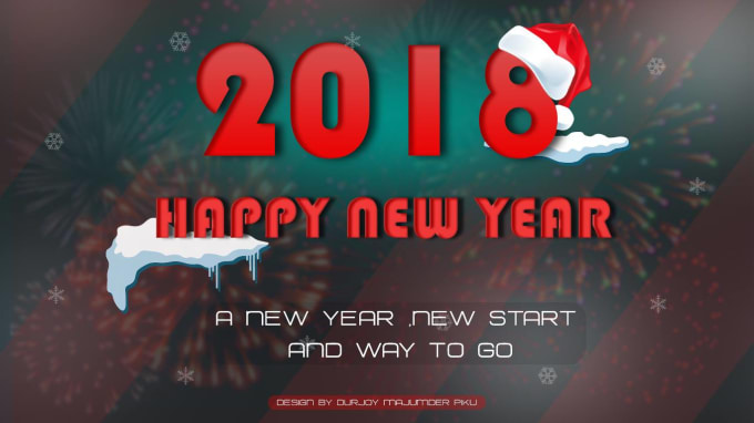 create happy new year card design wallpaper