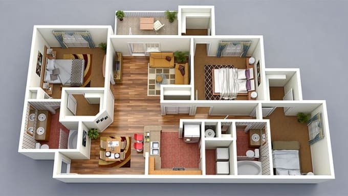 Design your own house 3d house plan 3d house plans by for Home design 3d gratis italiano