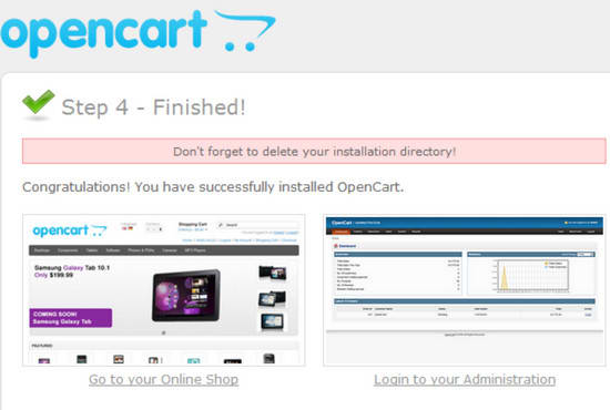 install and configure opencart, opencart theme