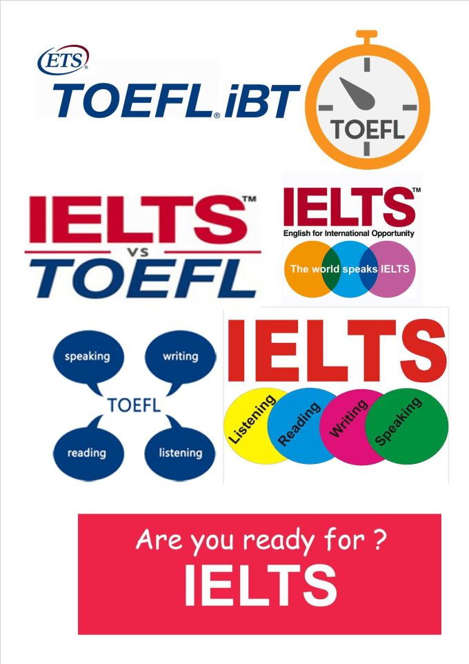 ielts or toefl ibt Another difference between the toefl ibt and ielts is the listening section the ielts listening section has four recorded monologues or conversations the toefl ibt has classroom lectures by teachers and class discussions by students.