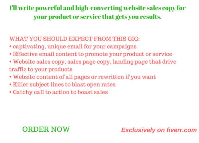 Write Amazing Website Sales Copy Sales Copy Page Or Sales Letter
