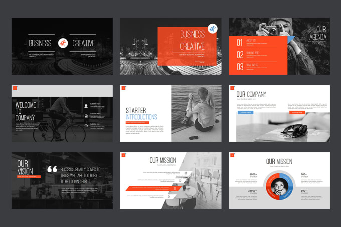 design premium powerpoint prezi google slide pitch deck infographic