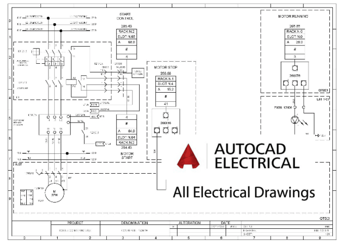 Do all electrical drawings using autocad electrical by Era_elec_eng