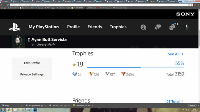 earn trophies and a platinum for your psn account
