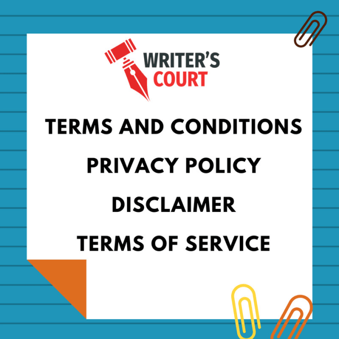 Write Legal Terms And Conditions And Privacy Policy For