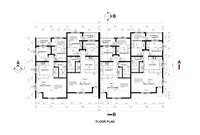 autocad floor plan for building permit