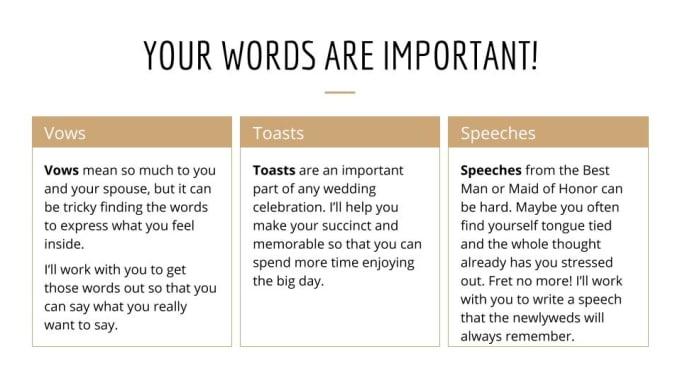 How To Write Wedding Vows 1