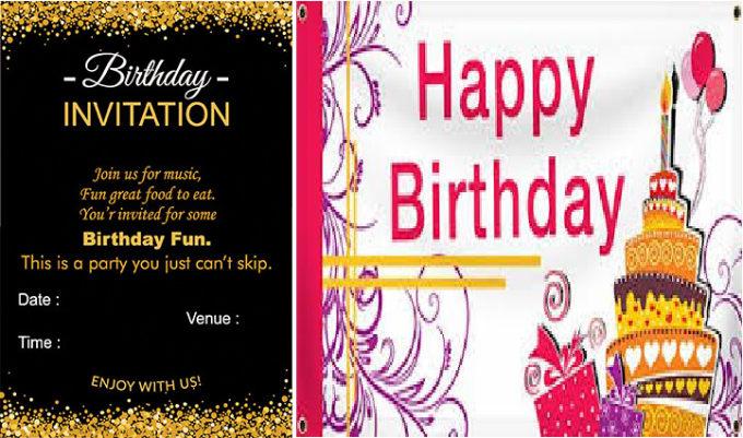 Design A Unique Birthday Invitation Card For You By Mwlogo
