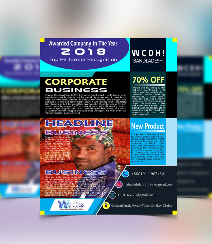 create business flyer brochure catalogue by yourworker24h