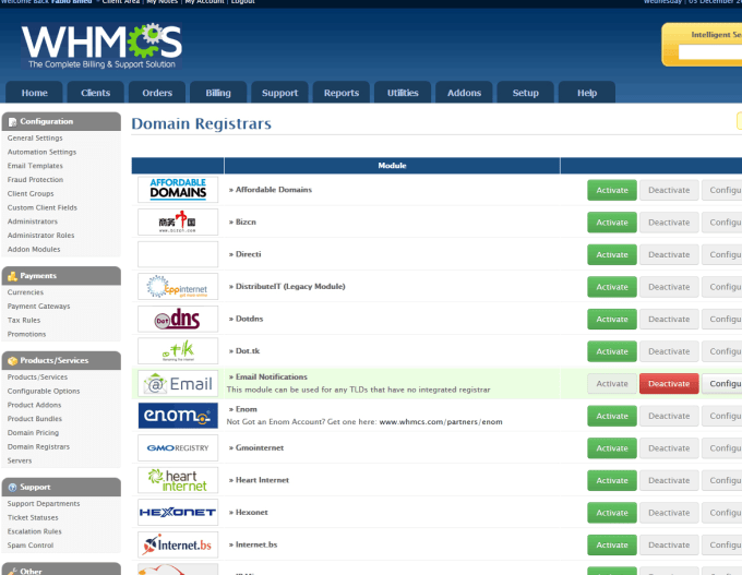synpredator : I will setup your WebHost with WHMCS for $5 on www fiverr com