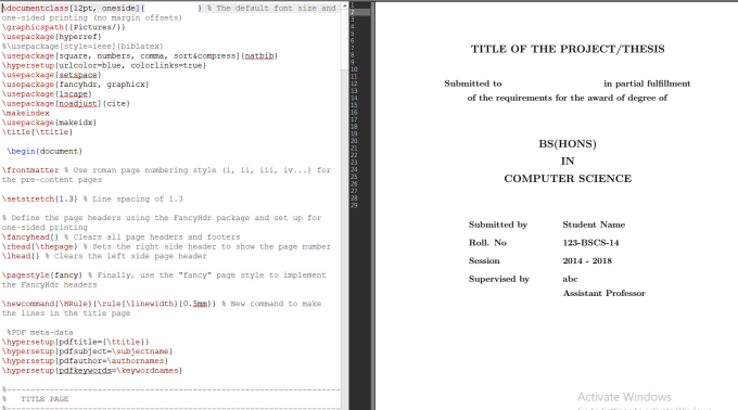 make or convert your documentation or any other doc in latex