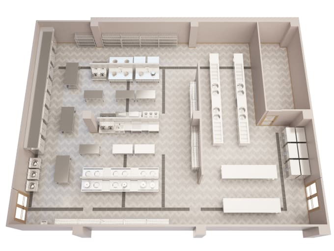 Design Model And Render Your Commercial Kitchen By Huyhao Amazing Comercial Kitchen Design Model
