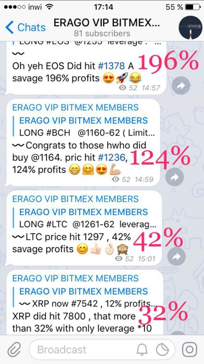 bis_inssaf : I will give you the best bitmex signals on telegram for $155  on www fiverr com