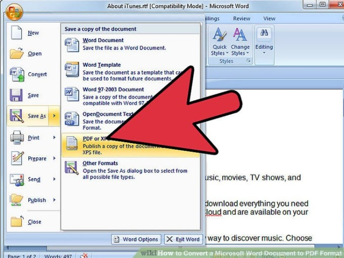 Convert Pages Word To Pdf By Datatechines - Convert pdf to word template