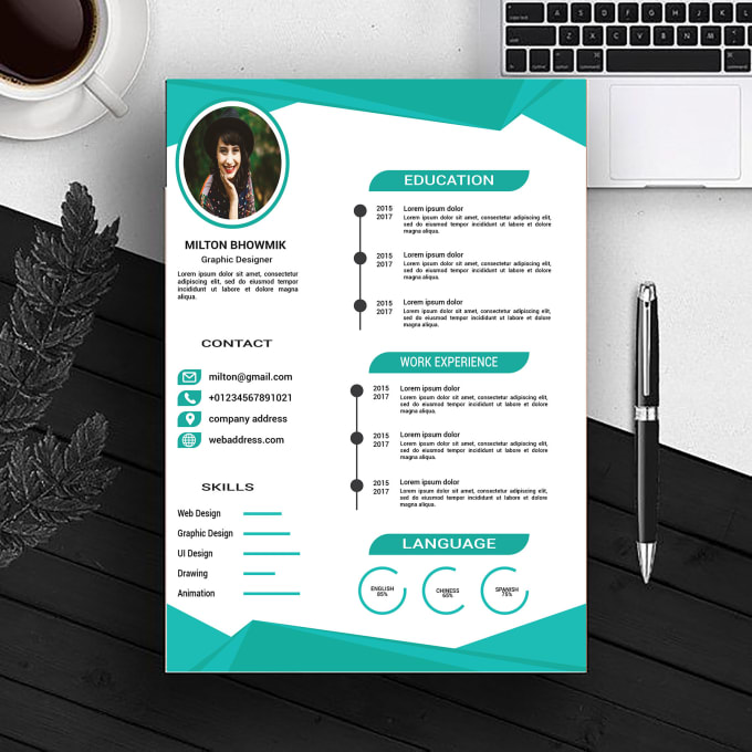 Design A Beautiful Roll Up Banner CV Or Resume