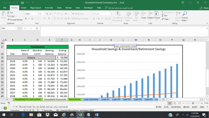 send a personal finance forecasting tool in excel by akbizconsulting