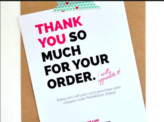 design amazon thank you card product insert by modrnconsulting