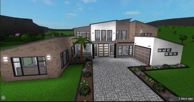 make-a-cosy-modern-mansion-for-you-on-bloxburg Bloxburg Modern Backyards Ideas May on