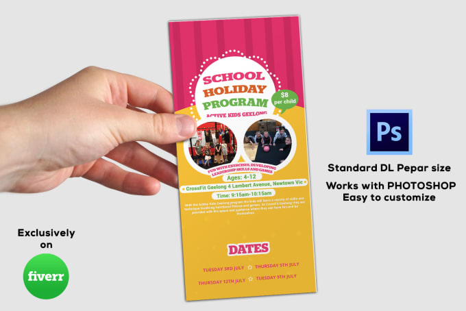 create rack card professional and creative design for you - Standard Rack Card Size