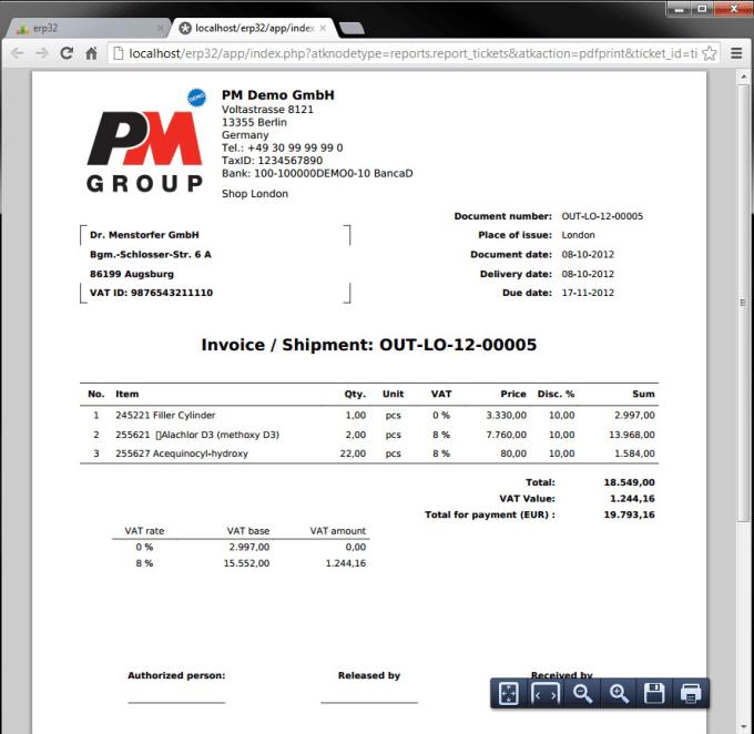 create PDF files using php tcpdf classes