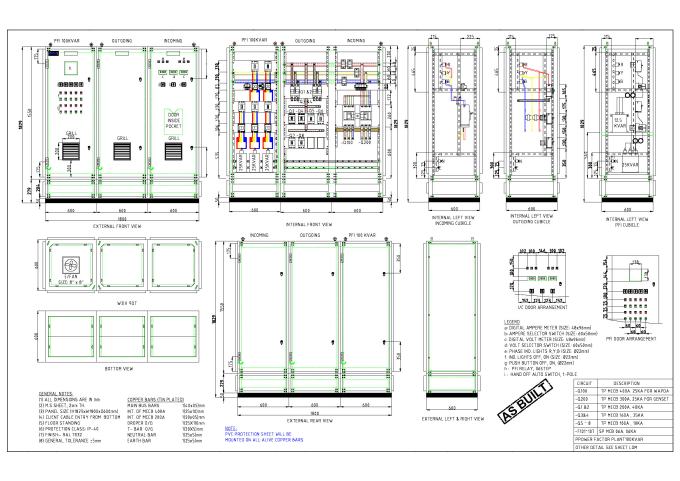 Industrial Layout And Electrical Control Panels Board