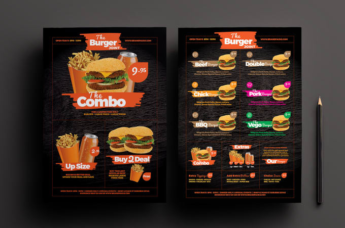 design food menu  restaurant menu and menu board design by