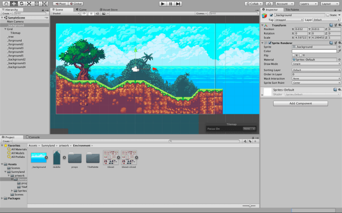 build great tiles design for unity game 2d