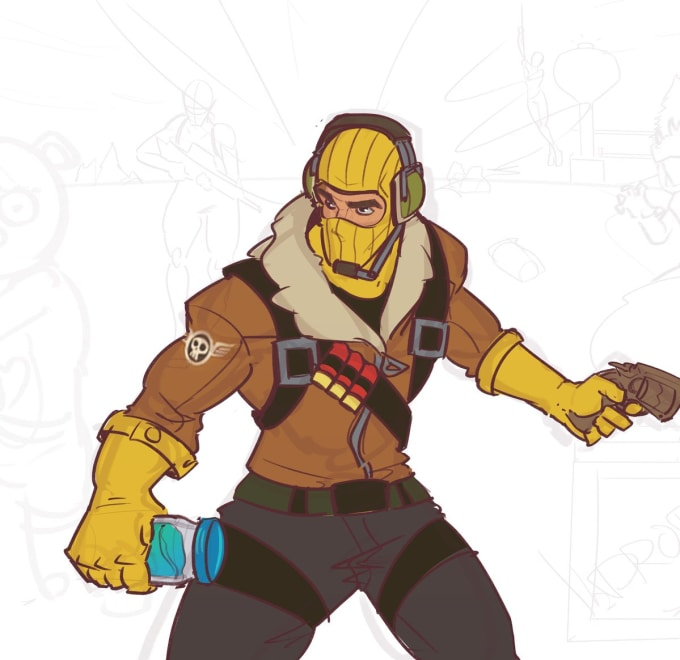 Fortnite Drawings: Draw You A Portrait Of A Fortnite Character For You By