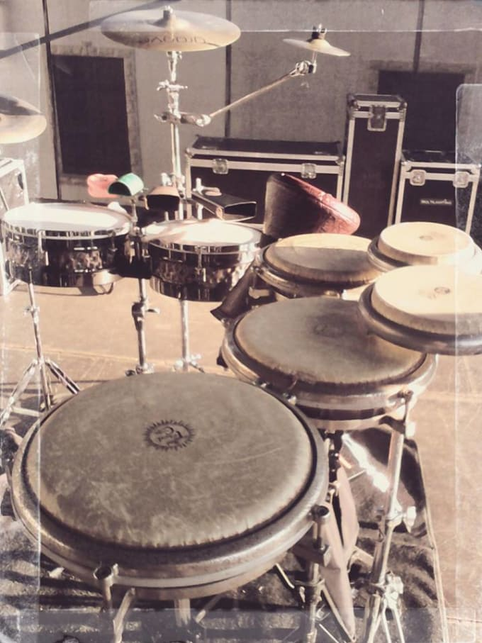 record acoustic drums or percussions in your songs