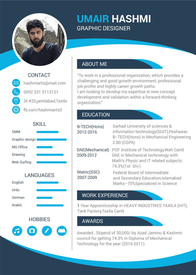 Professionally Design And Edit Your Cv Or Resume By Umairghafoor