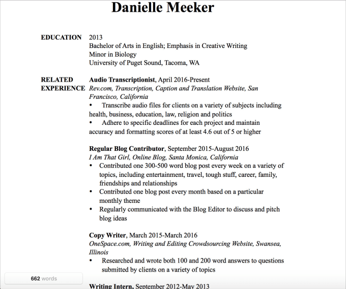 Write you a professional resume or cover letter by Dmeeker78