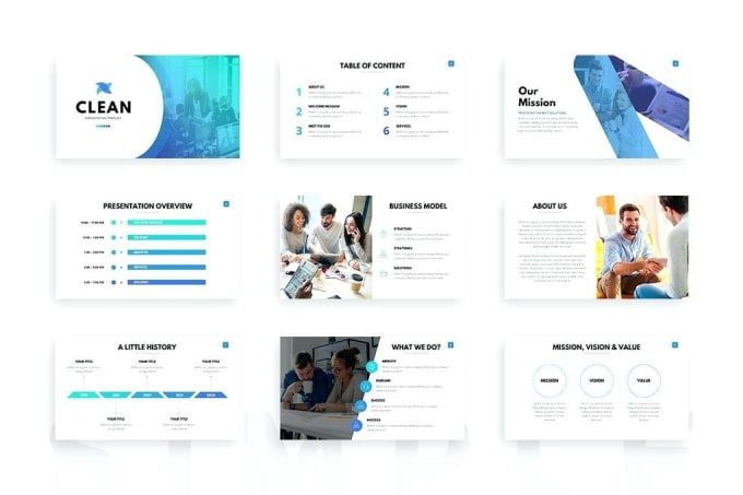design professional and best power point presentation by
