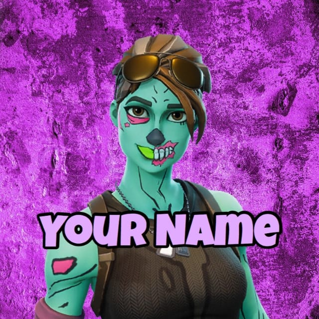 Make A Fortnite Profile Picture With Name And Skin By