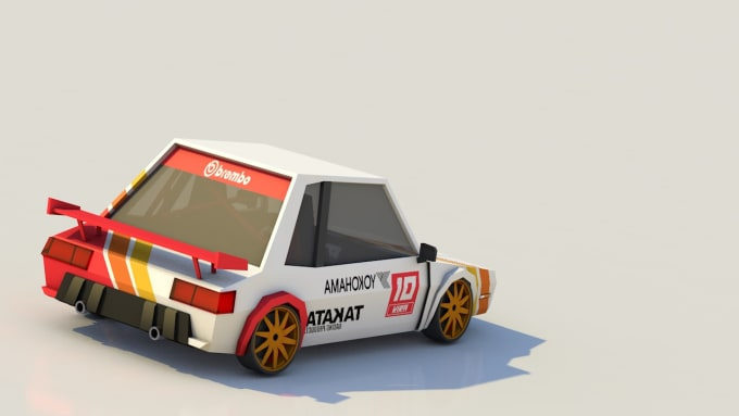 make a low poly car for games